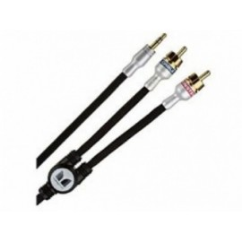 Monster Cable iCable 2 x RCA Macho - 3.5mm Macho, 2.7 Metros, Negro