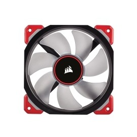 Ventilador Corsair Air ML120 PRO LED Rojo de Levitación Magnética, 120mm, 400-2400RPM, Negro