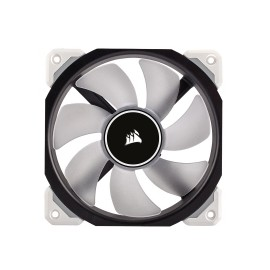 Ventilador Corsair Air ML120 PRO LED Blanco de Levitación Magnética, 120mm, 400-2400RPM, Negro