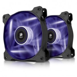 Ventilador Corsair AF120, LED Morado, 120mm, 1500RPM - 2 Piezas