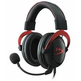 Kingston Audífonos Gamer HyperX Cloud II Red 7.1, Alámbrico, 1 Metro  2 Metros de Extensión, 3.5mm