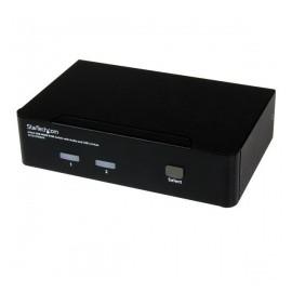 StarTech.com Switch KVM 2 Puertos HDMI con Hub USB 2.0 y Audio