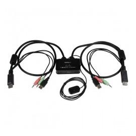StarTech.com Cable Switch KVM SV211DPUA, DisplayPort/USB, 85cm, Negro