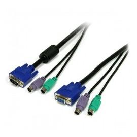 StarTech.com Cable KVM 3 en 1 PS2 HD-15 VGA, 1.8 Metros