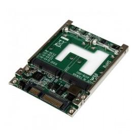 StarTech.com Adaptador Convertidor de SSD mSATA Doble a SATA RAID de 2.5