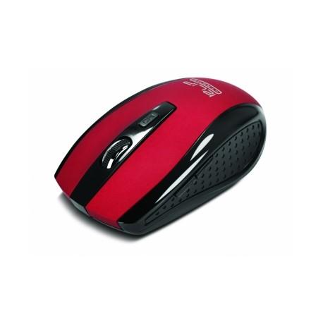Mouse Klip Xtreme Óptico KMW-340RD, Inalámbrico, USB, 1600DPI, Rojo