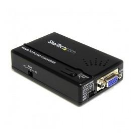 StarTech.com Adaptador de S-Video Macho - VGA Hembra, Negro