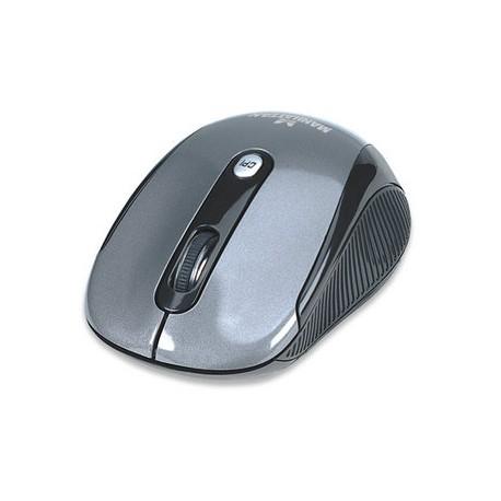 Mouse Manhattan Óptico Alto Rendimiento, Inalámbrico, USB, 2000DPI