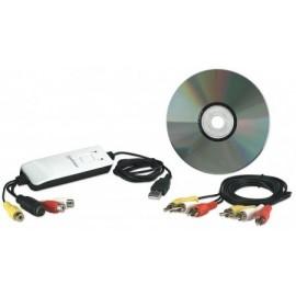 Manhattan Capturadora de Vídeo USB 2.0, 720 x 576 Pixeles, RCA