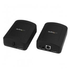 StarTech.com Juego Extensor de 1 Puerto USB 2.0 por Cable de Red Ethernet Cat5 Cat6 UTP, 100 Metros