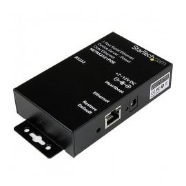 StarTech.com Servidor de Dispositivos Serie de 1 Puerto RS-232 con Power over Ethernet PoE, Conversor Serial a Red IP