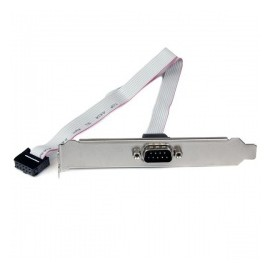 StarTech.com Adaptador de Header Bracket Serial para Tarjeta Madre, DB9 RS232 - IDC 10-pin, 40cm