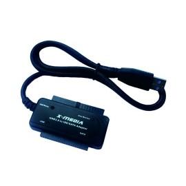 X-Media Adaptador USB 3.0 Macho - IDE SATA, 5 Gbits, Negro