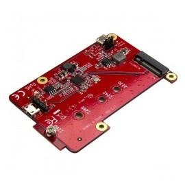 StarTech.com Adaptador Convertidor USB a M.2, 6 Gbit/s, Rojo