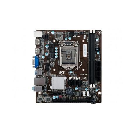Tarjeta Madre ECS micro ATX H110M4-C23, S-1151, Intel H110, HDMI, USB 3.0, 32GB DDR4, para Intel