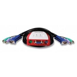 Encore Cable Switch KVM de 2 Puertos PS2, 1.2 Metros