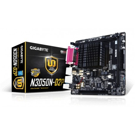 Tarjeta Madre Gigabyte mini ITX GA-N3050N-D2P (rev. 1.0), S-1170, Intel Celeron N3050 Integrada, HDMI, USB 2.0/3.0, 2x 8GB DDR3