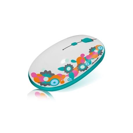 Mouse Acteck Óptico WKMI-102, Inalámbrico, USB, Nano Receptor, con Flores