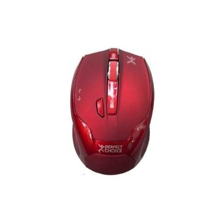 Mouse Perfect Choice Perfect Track Tech PC-044598, Inalámbrico, USB, 1480DPI, Rojo