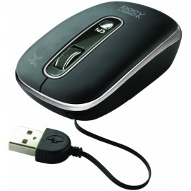 Mouse Perfect Choice Optico PC-043669-00001, USB, Negro