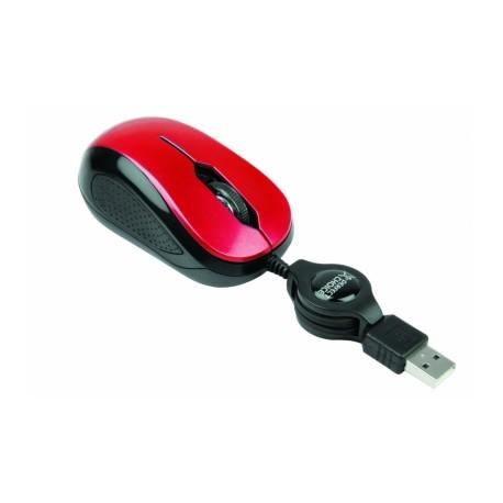 Mouse Perfect Choice Optico PC-043973, 1000DPI, USB, Rojo