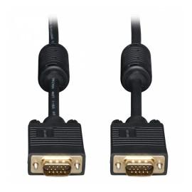 Tripp Lite Cable VGA Coaxial para Monitor, VGA (D-Sub) Macho - VGA (D-Sub) Macho, 10.7 Metros, Negro