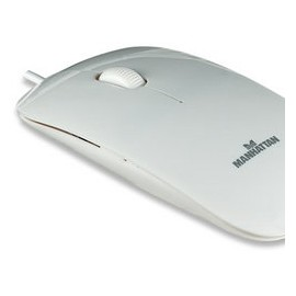 Mini Mouse Manhattan Óptico Silueta, Alámbrico, 1000DPI, USB, Blanco