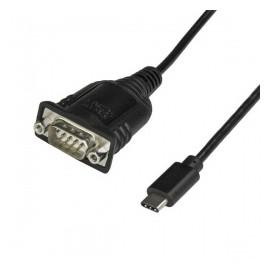 StarTech.com Cable USB Tipo C Macho - Serial DB9 Macho, 40cm, Negro