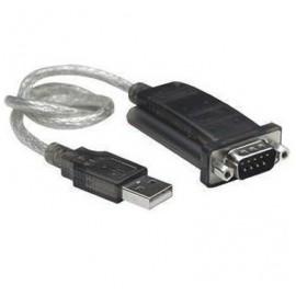 BRobotix Adaptador USB A Macho - RS-232 Macho, Negro/Plata