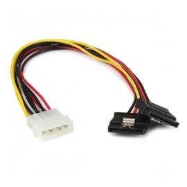StarTech.com Cable SATA Recto, 4-pin Molex Macho - 2x SATA 15-pin Hembra, 30cm