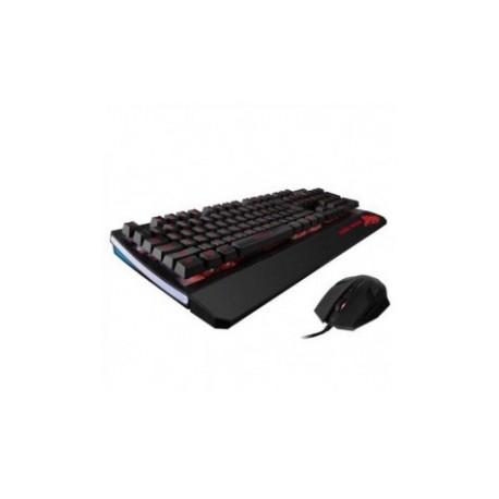 Kit Gamer de Teclado y Mouse Eagle Warrior G75  G15, Alámbrico, USB, Negro