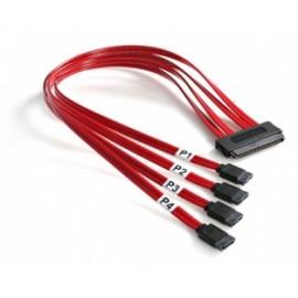 StarTech.com Cable SAS Serial Attached SCSI SFF 8484 - 4x SATA, 50cm, Rojo