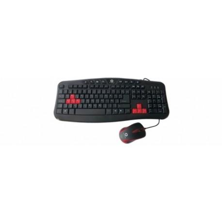 Kit Gamer de Teclado y Mouse Naceb NA-112, Alámbrico, USB, Negro