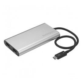 StarTech.com Adaptador Thunderbolt 3 a HDMI Doble, 4K, Plata
