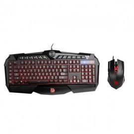 Kit Gamer de Teclado y Mouse Tt eSPORTS CHALLENGER Prime RGB Español, Alámbrico, USB, Negro