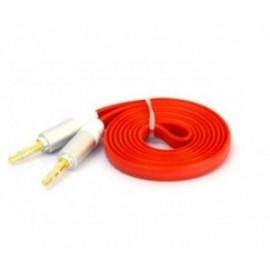 Naceb Cable 3.5mm Macho - 3.5mm Macho, 1 Metro, Rojo