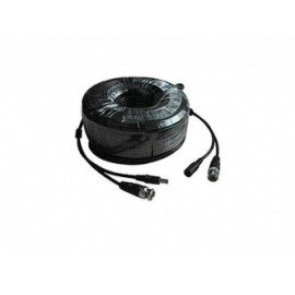 Meriva Security Cable BNC Macho - BNC Hembra, 18 Metros, Negro