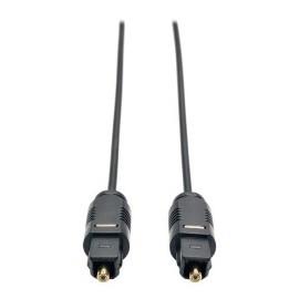 Tripp Lite Cable Óptico Digital de Audio Ultra Delgado Toslink Macho - Toslink Macho, 3 Metros, Negro