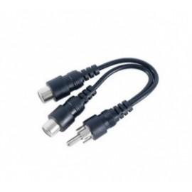 GE Cable 2x RCA Macho - RCA Macho, 10cm, Negro