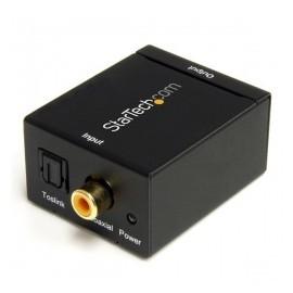 StarTech.com Adaptador Convertidor de Audio Digital Coaxial SPDIF o Toslink Óptico a RCA Estéreo Analógico