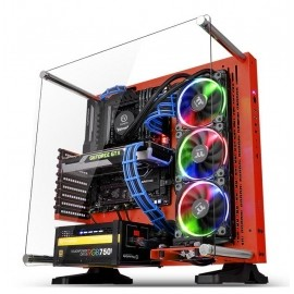 Gabinete Thermaltake Core P3 SE Red Edition con Ventana LED RGB, Midi-Tower, ATX
