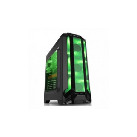Gabinete Eagle Warrior RobotQ con Ventana LED Verde, Tower, ATX