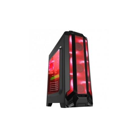 Gabinete Eagle Warrior RobotQ con Ventana LED Rojo, Tower, ATX