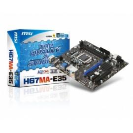 Tarjeta Madre MSI micro ATX H67MA-E35, S-1155, Intel H67, HDMI, USB 3.0, 16GB DDR3, para Intel