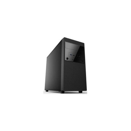 Gabinete K-mex CM-3U22, Mini-Tower, USB 2.0, con Fuente de 450W, Negro