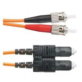 Panduit Cable de Fibra Óptica OFNR ST Macho - LC Macho, 1 Metro, Naranja