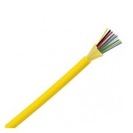 Panduit Cable Fibra Óptica 24 Hilos Monomodo, 9/125µm, Amarillo