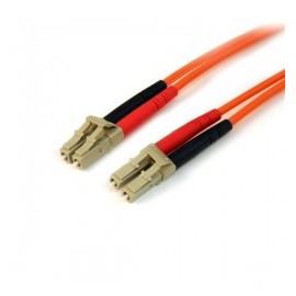 StarTech.com Cable Fibra Óptica OM2 LC Macho - LC Macho, 1 Metro, Naranja