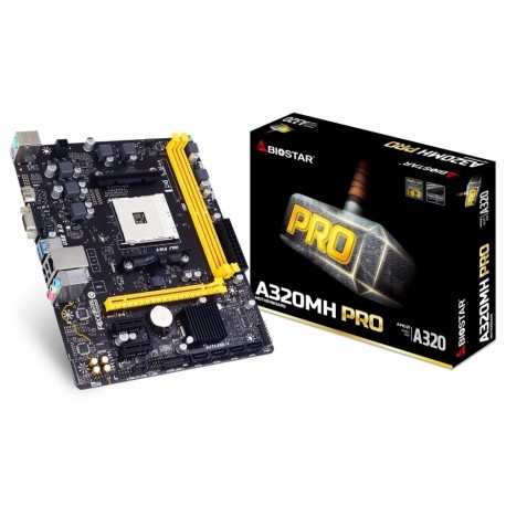 Tarjeta Madre Biostar micro ATX A320MH PRO, S-AM4, AMD A320, HDMI, USB 3.0, 32GB DDR4, AMD