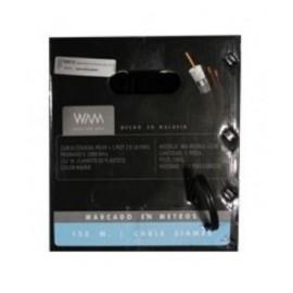 WAM Cable Coaxial RG-59,105 Metros, Negro
